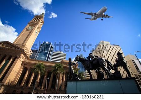 Brisbane city buildings - stock photo