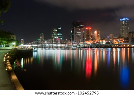 Brisbane City Skyline at night - Queensland - Australia