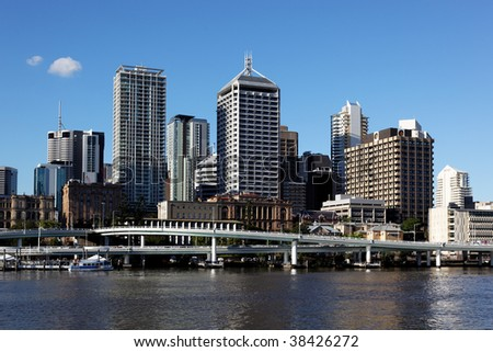 Brisbane City Skyline, Queensland, Australia