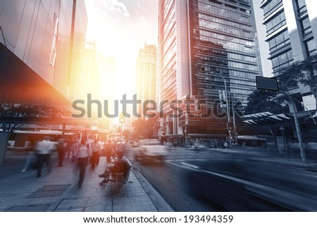 Brisbane city streets - stock photo