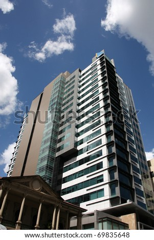 BRISBANE - MARCH 21: Bank of Queensland building on March 21, 2009 in Brisbane, Australia. Founded in 1874, BoQ is one of the oldest financial institutions in Australia still operating. - stock photo