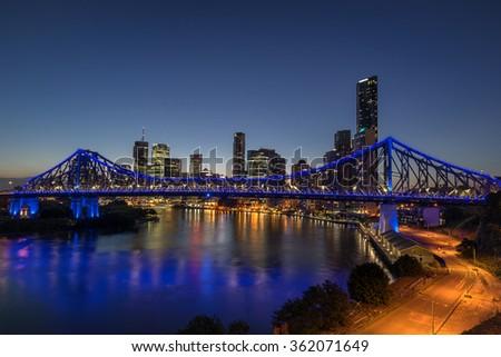 Brisbane panorama - stock photo