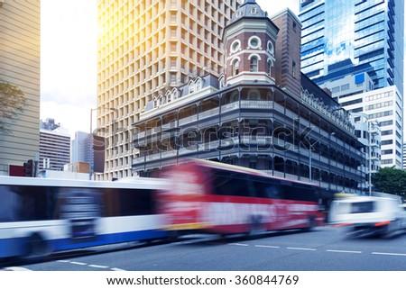 Brisbane Road traffic - stock photo