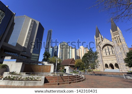 Brisbane's modern urban architecture - stock photo