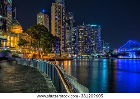 Brisbane waterfront - stock photo