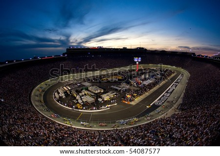 BRISTOL, TN - AUG 23:  The Bristol Motor Speedway plays host to the Sharpie 500 race on Aug 23, 2009 in Bristol, TN . - stock photo