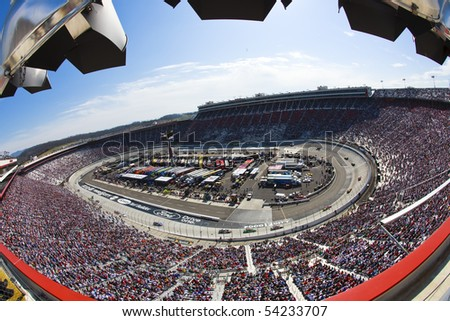 BRISTOL, TN - MAR 21:  The Nationwide Series makes a stop at the Bristol Motor Speedway for the running of the Scotts Turf Builder 300 NASCAR Nationwide race in Bristol, TN on 21 Mar, 2009. - stock photo