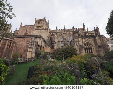 BRISTOL, UK - CIRCA SEPTEMBER 2016: Bristol Cathedral (formally the Cathedral Church of the Holy and Undivided Trinity)