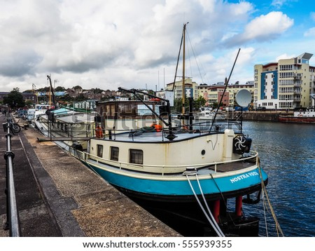BRISTOL, UK - CIRCA SEPTEMBER 2016: HDR Bristol Harbour (part of Port of Bristol)