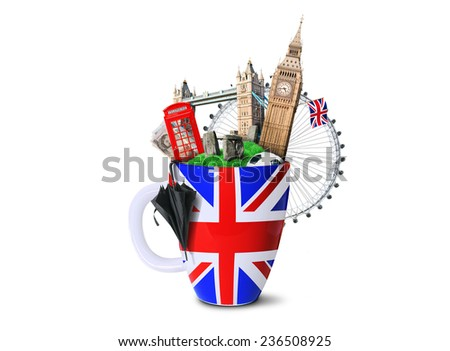 Britain cup - stock photo
