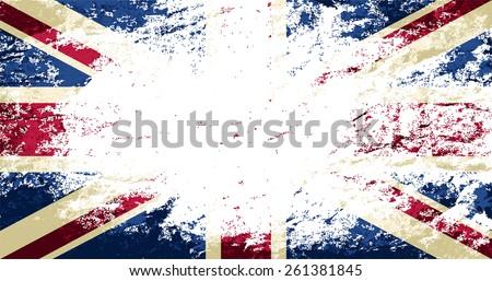 Britain flag Grunge background. Raster version - stock photo