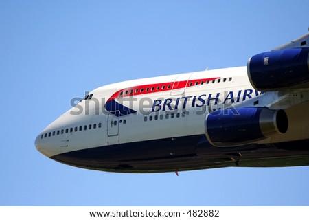 British Airways Boeing 747 - stock photo