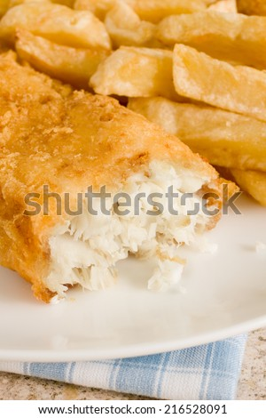 British chip shop fish and chips