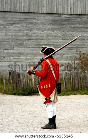 British colonial soldier - stock photo