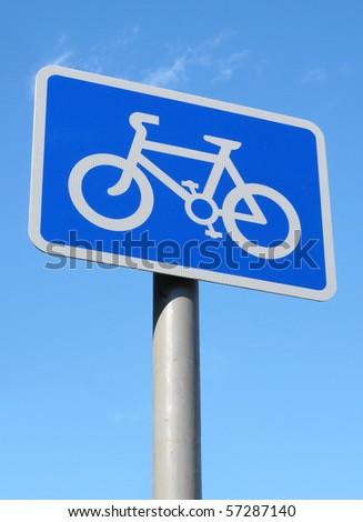 British cycle lane sign. - stock photo