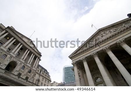 british financial institutions - stock photo