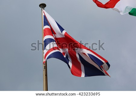 British Flag Against Blue Sky