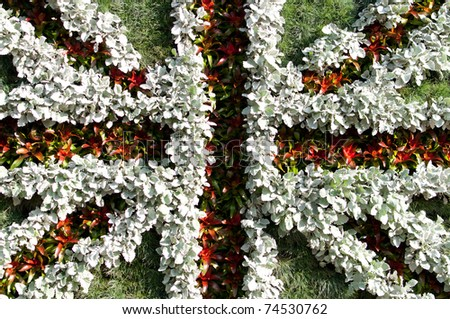 British flag made out of plants - stock photo