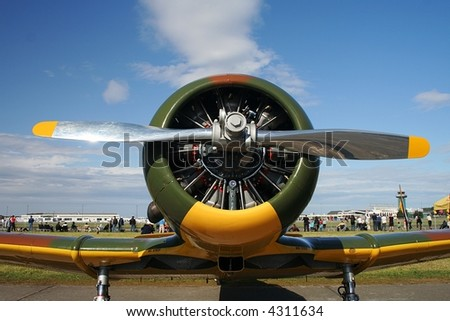 British Harvard viewed from the front - stock photo