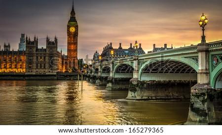 British Houses Of Parliament - stock photo