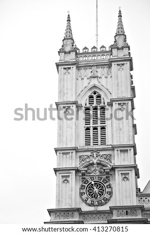 british     in london england old construction  and religion - stock photo