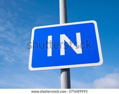 British In road sign close up. - stock photo