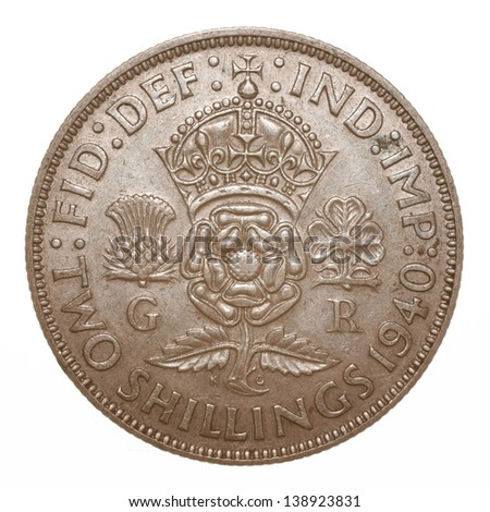 British King George VI 1940 Two Shilling (Florin) Coin