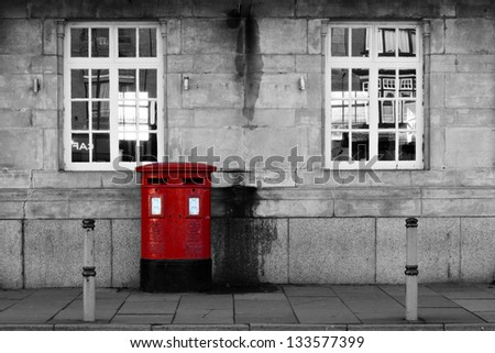 British Letter Box - stock photo