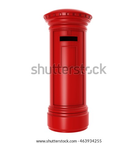 British mail post. 3D Rendering.