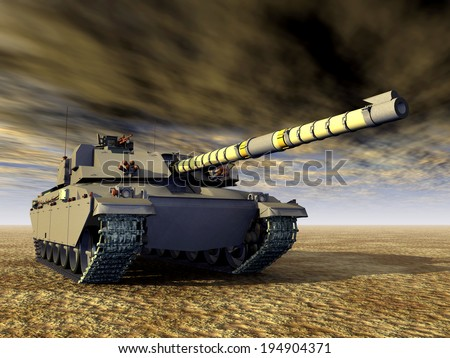 British Main Battle Tank Computer generated 3D illustration - stock photo