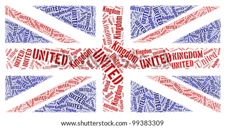 British National Country Flag Symbol info-text graphics and arrangement concept on white background - stock photo