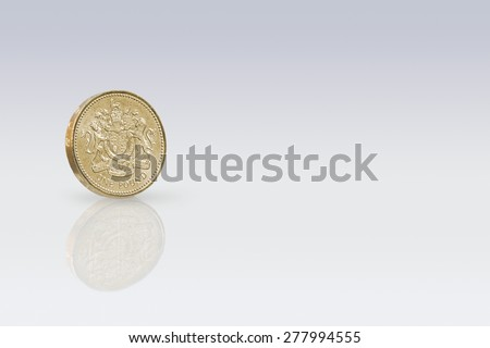 British One Pound Coin - stock photo