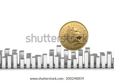 British penny concept - stock photo