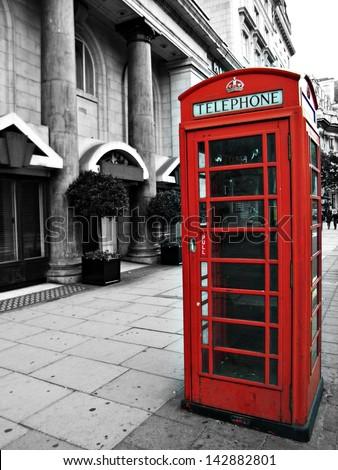 british phonebox - stock photo