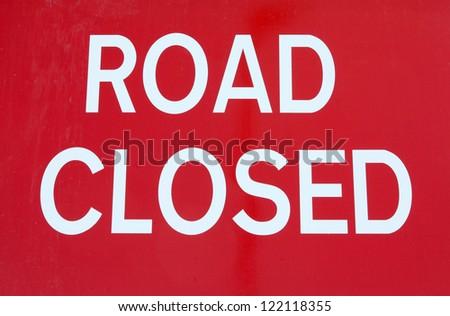 British Road Closed traffic sign. - stock photo