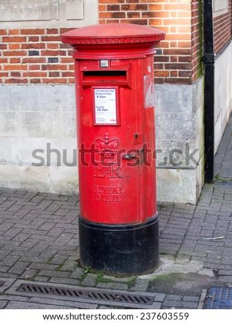 British Royal Mail Post Box - stock photo