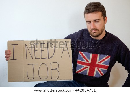 British sad man after Great Britain exit from Europe Union