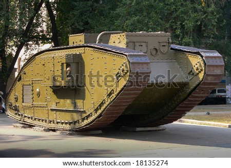 British tank from World War I - stock photo