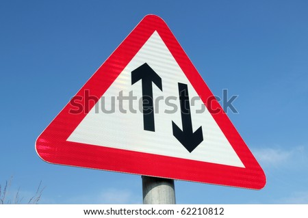 Two Way Traffic Ahead | Warning Road Signs |Two Way Traffic Ahead Sign
