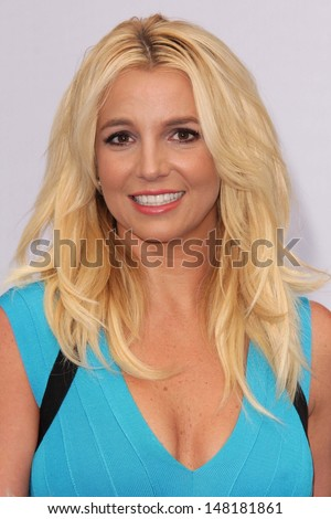 "Britney Spears at the ""The Smurfs 2"" Los Angeles Premiere, Village Theater, Westwood, CA 07-28-13 - stock photo"