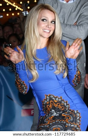 "Britney Spears at the ""The X Factor"" Season 2 Premiere and Handprint Ceremony, Chinese Theater, Hollywood, CA 09-11-12"