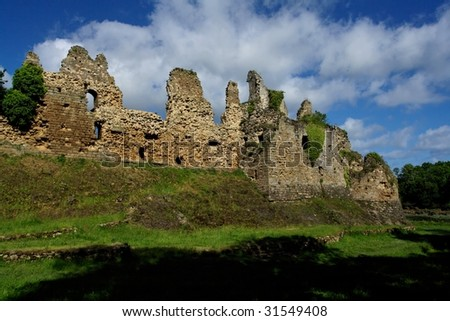 Brittany castle ruins - stock photo