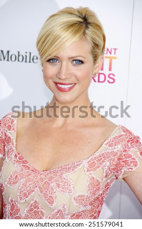 Brittany Snow at the 2013 Film Independent Spirit Awards held at the Santa Monica Beach in Los Angeles, California, United States on February 23, 2013. - stock photo