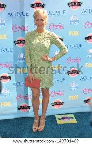 Brittany Snow at the 2013 Teen Choice Awards at the Gibson Amphitheatre, Universal City, Hollywood. August 11, 2013  Los Angeles, CA - stock photo