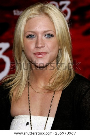 """Brittany Snow attends the Los Angeles Premiere of """"The Number 23"""" held at the Orpheum Theater in Los Angeles, California on February 13, 2007.  - stock photo"""