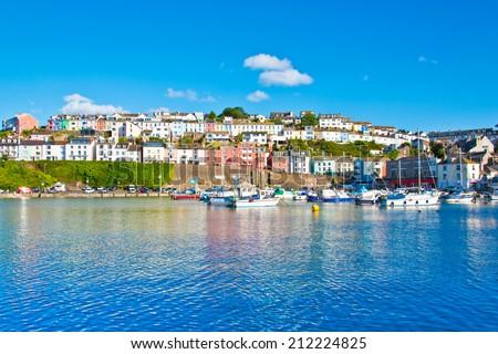 Brixham harbour Devon - stock photo