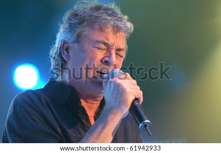 BRNO,CZECH REP-FEB 22:Ian Gillan,singer of band Deep Purple on concert at the hall Rondo February 22, 2006 in Brno, Czech Republic. The group arrived as part of tour for the album Rapture Of The Deep.