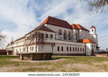 BRNO, CZECH REPUBLIC APRIL 10: Spilberk Castle (German: Spielberg), an old castle on the hilltop in Brno on April 10, 2012. Brno is the second largest city in the Czech Republic. - stock photo
