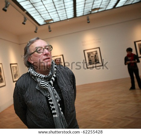 BRNO, CZECH REPUBLIC- SEPT. 30: American photographer Joel Peter Witkin opens his exposition at Brno Art House, on Thursday, Sept. 30, 2010 in Brno, Czech Republic. - stock photo