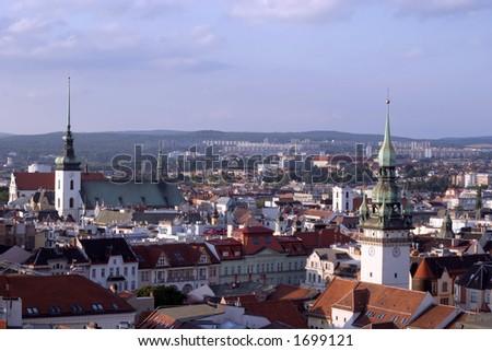 Brno, second biggest city in Czech Republic, Europe - stock photo